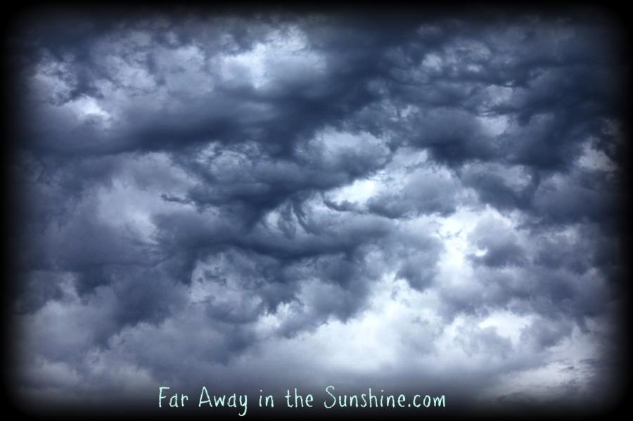 Skies of clouds