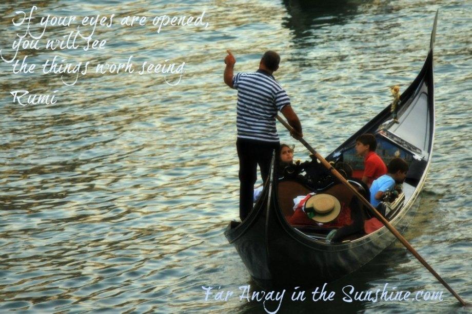 A gondola in Venice