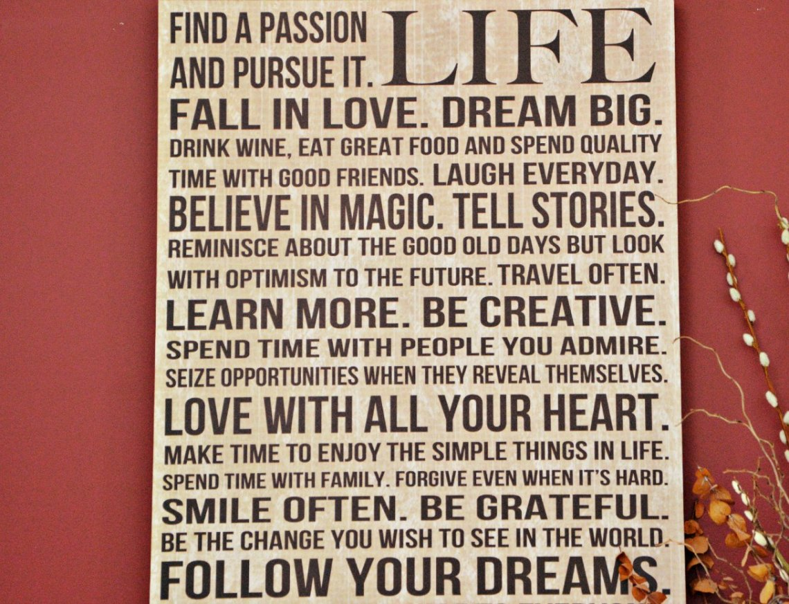 Life's to do list